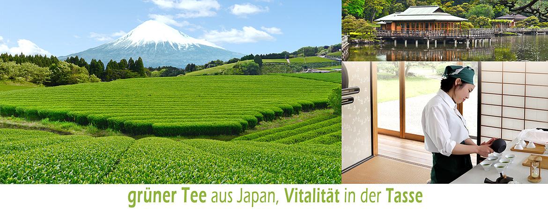banner grüner Tee aus Japan